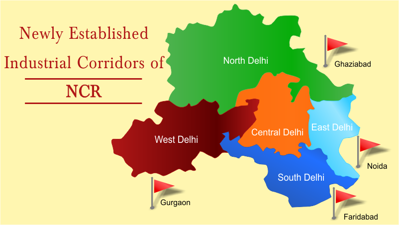 established industrial corridors of National Capital Region