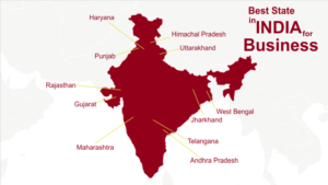Indian States with Their Ease of Doing Business
