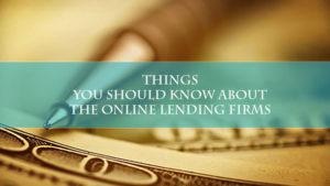the online lending firms